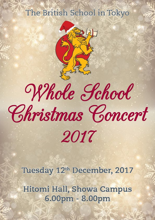 British school tokyo on twitter all parents are welcome to attend british school tokyo on twitter all parents are welcome to attend the whole school christmas concert 2017 tomorrow tues 12th dec at the hitomi hall on m4hsunfo