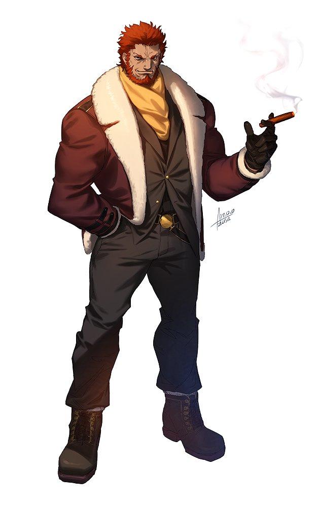 【FGO】冬のファラオ大感謝祭にイスカンダルがいたらこんな感じでしょうかっていう(◔౪◔) 冬服見繕うの楽しい~~~! そしてイスカンダルはやっぱりめちゃくちゃ描きやすい。 #FateGO