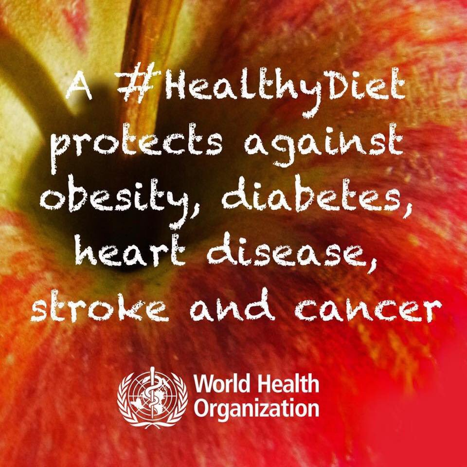 #HealthyDietA  protects against obesity, diabetes type 2, heart disease, stroke, cancer. Eat healthhttps://t.co/XqX2J1OMDP #BeatNCDsy!