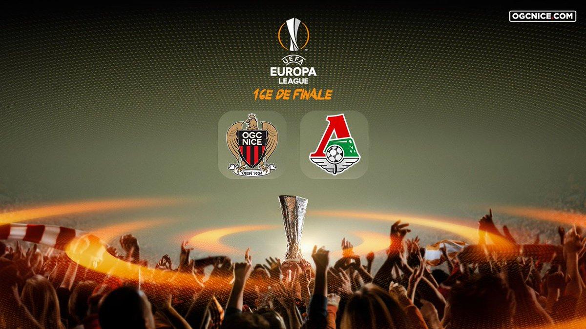 🏆 16e de finale @EuropaLeague : l'@ogcnice hérite du Lokomotiv Moscou !  Match aller le 15 février 2018 @AllianzRiviera Match retour le 22 février 2018 à Moscou #TirageUEL #UELDraw