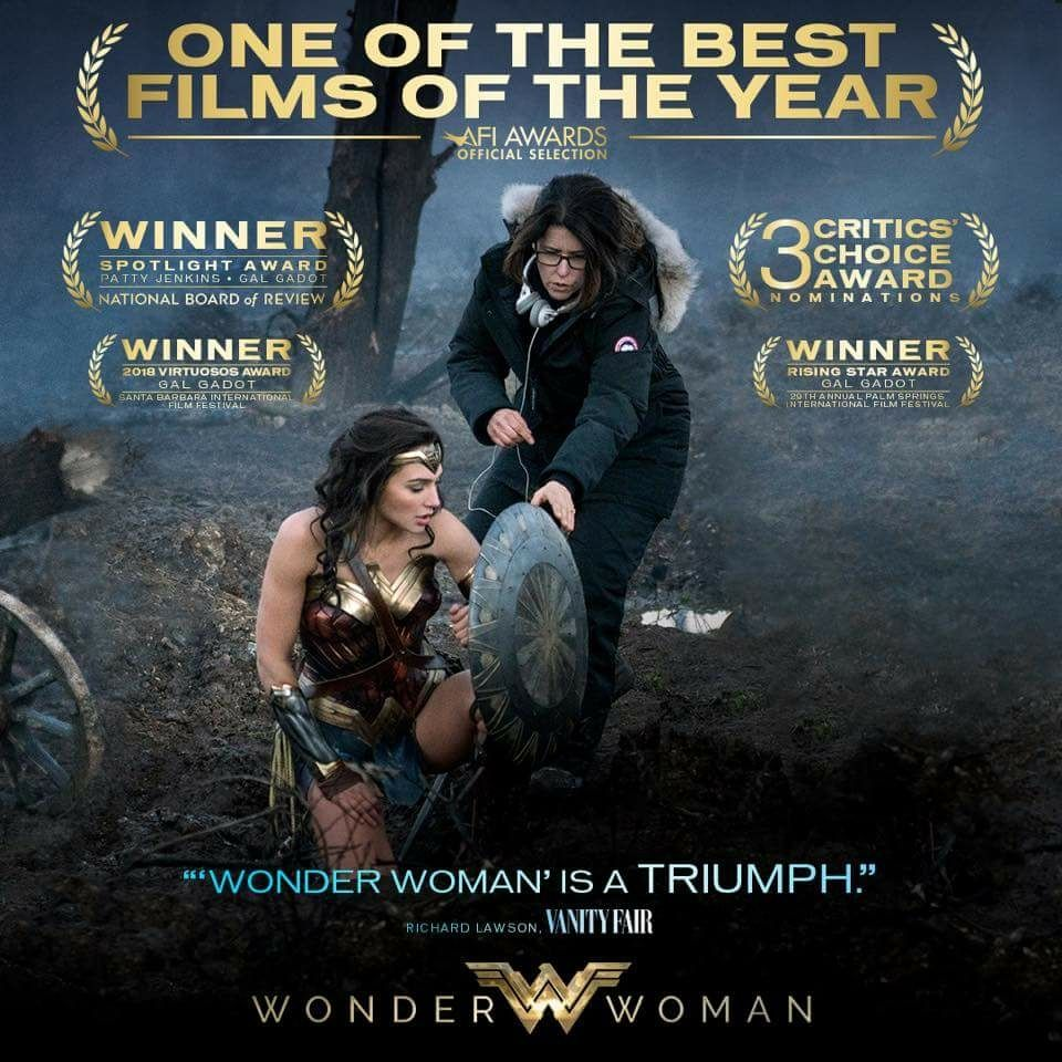 Congrats to #WonderWoman - Selected by AFI as  One Of The Best Films Of The Year. #AFIAwards