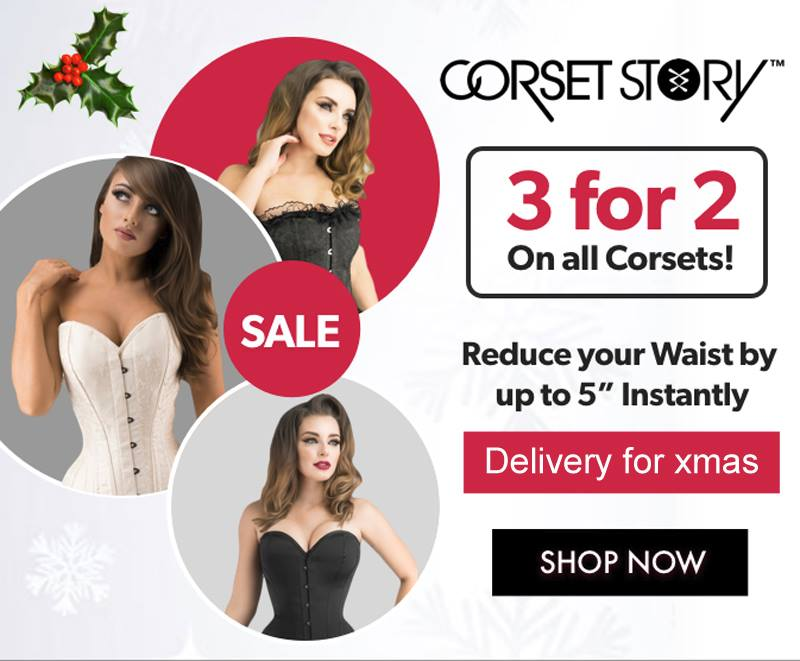 3 for 2 on every single item in our online store. Buy before 21st Dec for delivery in time for Xmas. Choose from hundreds of designs - cheapest corset deducted from your bill at the checkout. Happy Shopping! Click here for the deals> https://t.co/5jhuLDVbSu https://t.co/rwzLgxchkF