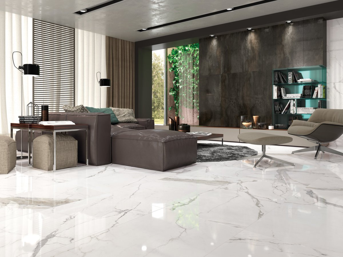 Tile stone gallery on twitter this large format carrara marble this large format carrara marble effect white rectified porcelain tile with sophisticated delicate veining works beautifully on walls and floors dailygadgetfo Gallery