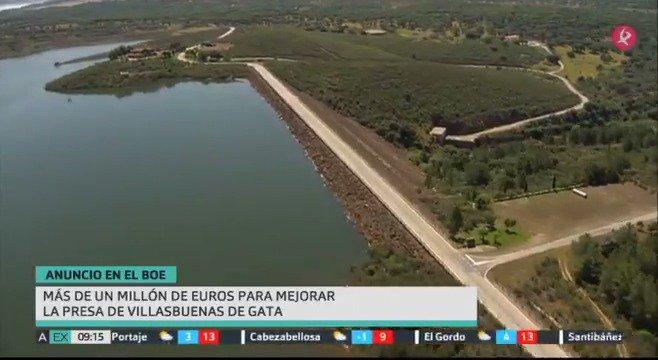 El @boegob amanece hoy con noticias positivas para #VillasbuenasDeGata: más de 1 millón de euros par mejorar su presa. #EXN https://t.co/OHnoP1YK8V