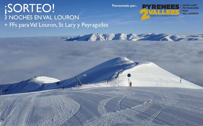 Nuevo sorteo!! 😜 Regalamos 3 noches en Val Louron + FFs para esquiar en varias estaciones de @Pirineos2valles 🎁 ENTRA Y PARTICIPA ➡️ https://t.co/92ANVFmktT