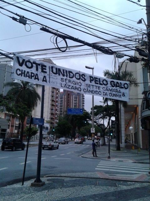 A chapa da situação, considerada a favorita, tem Sérgio Sette Câmara como presidente e Lázaro Cândido da Cunha como vice.