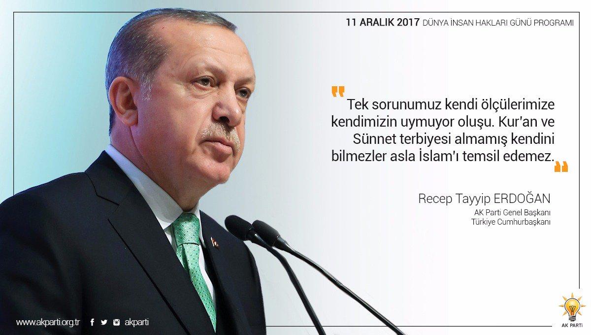 'Kur'an ve Sünnet terbiyesi almamış kendini bilmezler asla İslam'ı temsil edemez.' #İnsanlıkİçinİyikiVarsınız https://t.co/VVh2MgSFLO