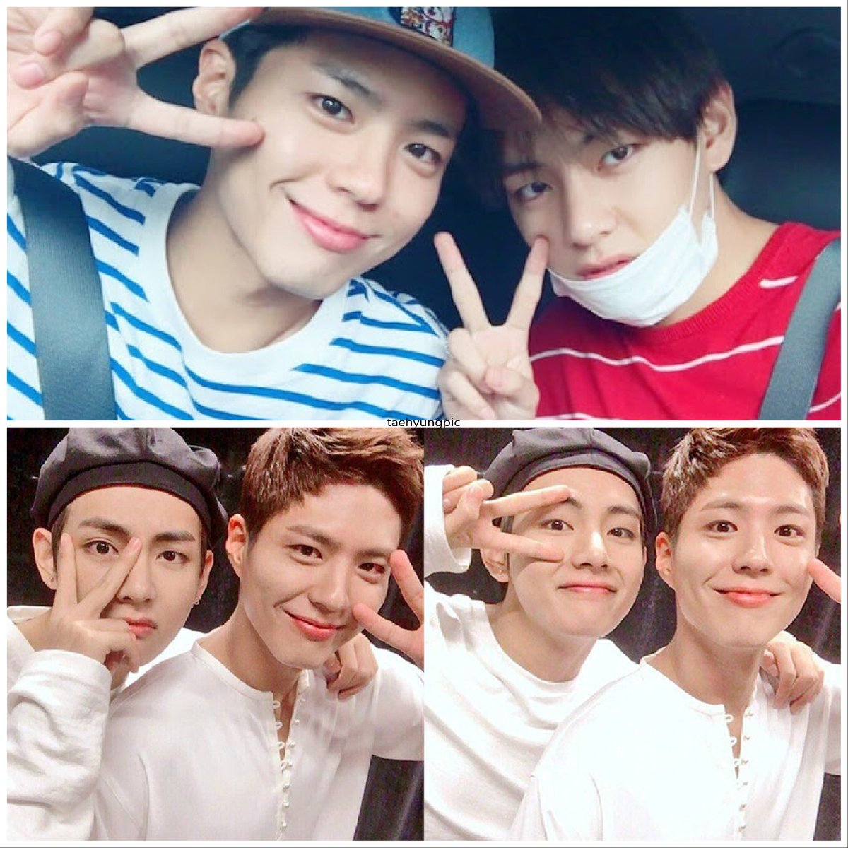 Taehyung with Bogum's 👬  selfie compilat...
