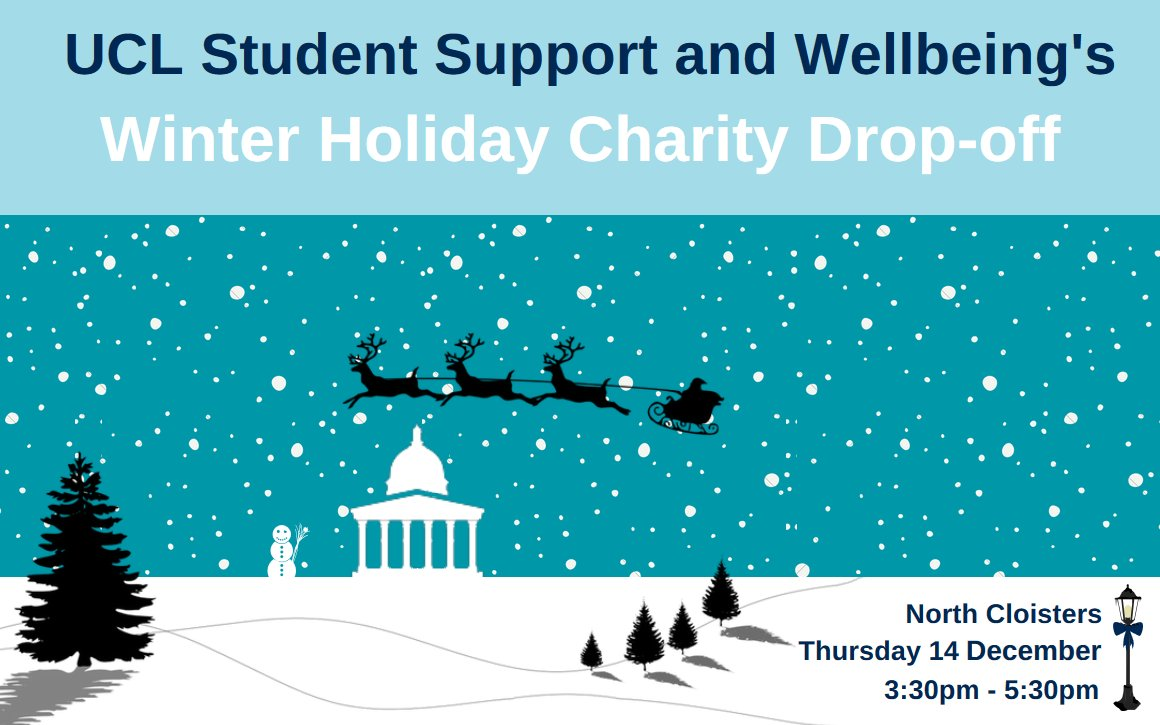 UCL On Twitter Our Winter Holiday Charity Drop Off Takes Place