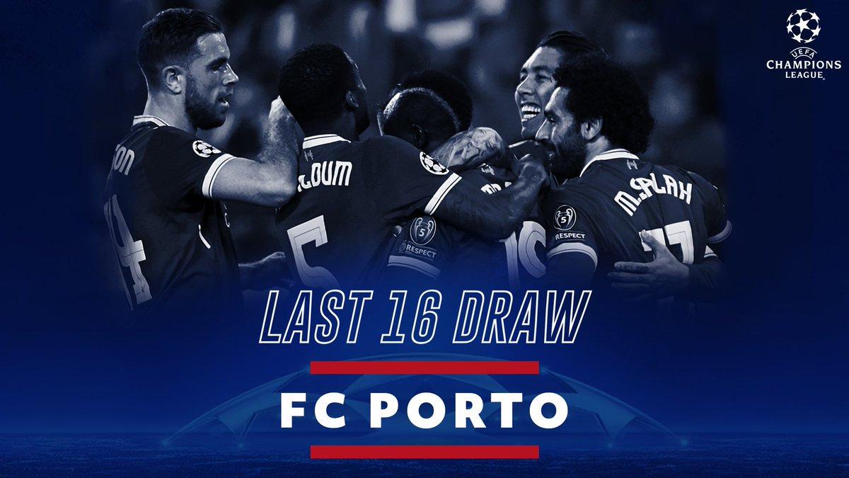 It's FC Porto for #LFC in the #UCL last 16! 🏆