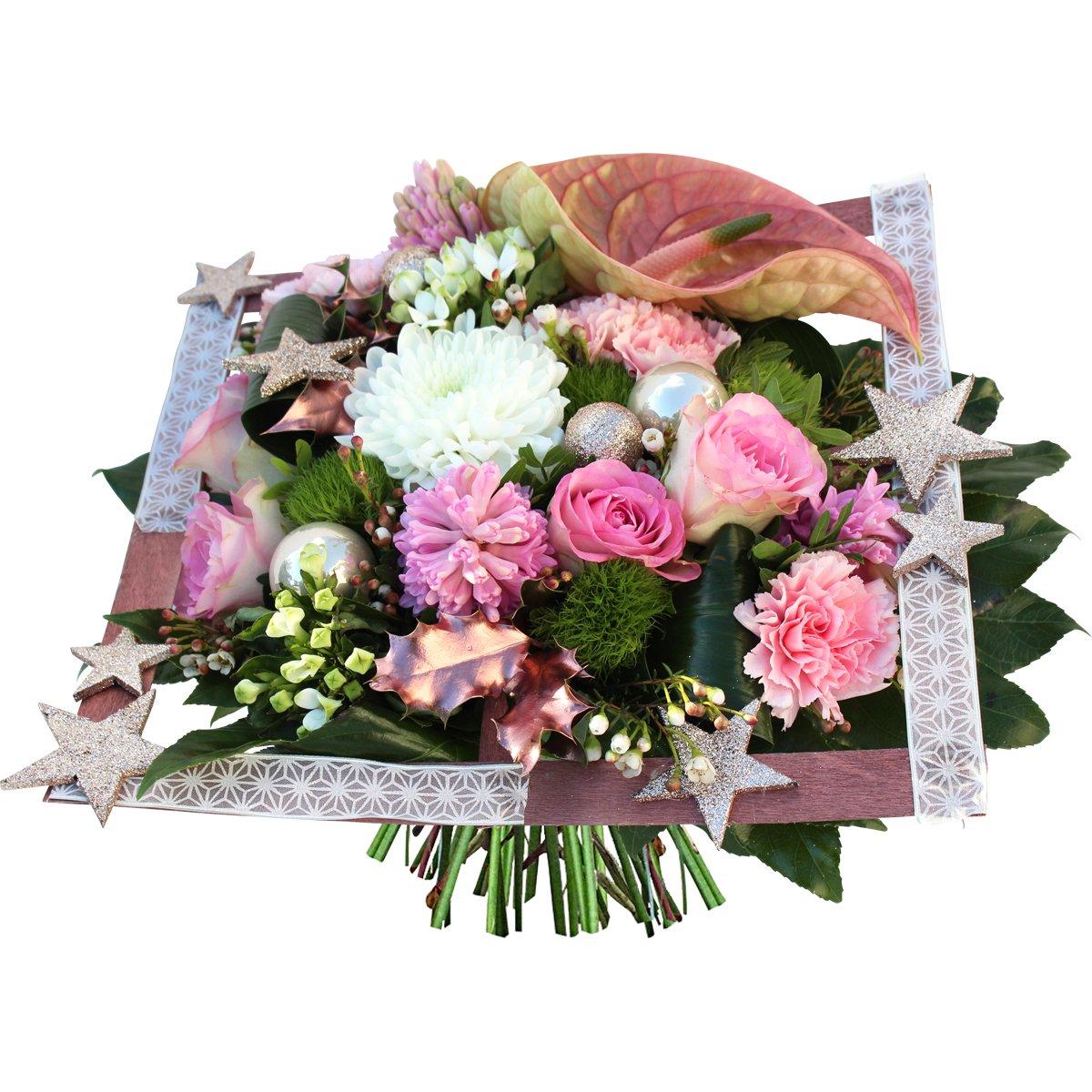 """Bouquet De Noel Avec Du Houx floraclic on twitter: """"tendance rose cuivré: bouquet """"or"""