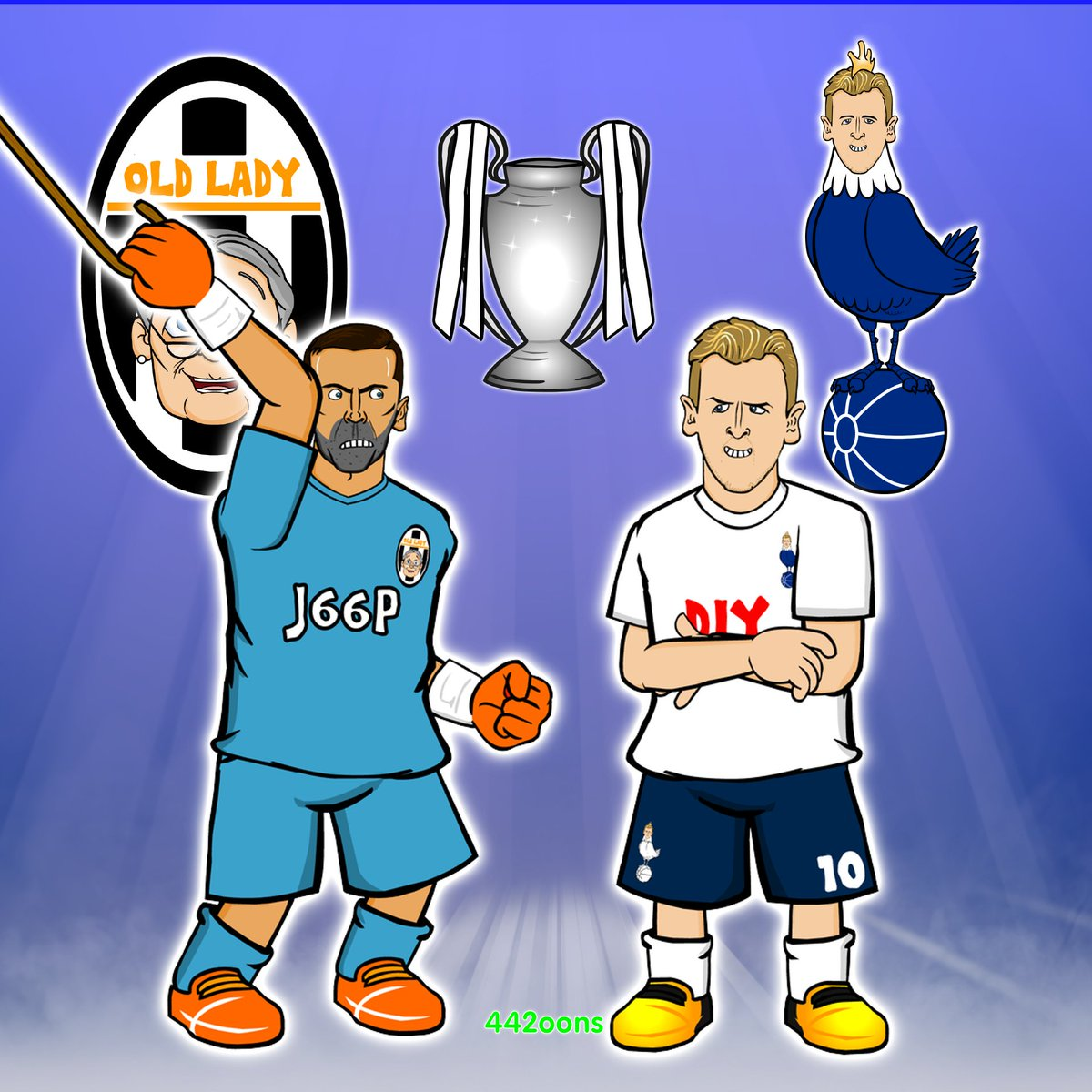 442oons on twitter juventus vs tottenham who s going to