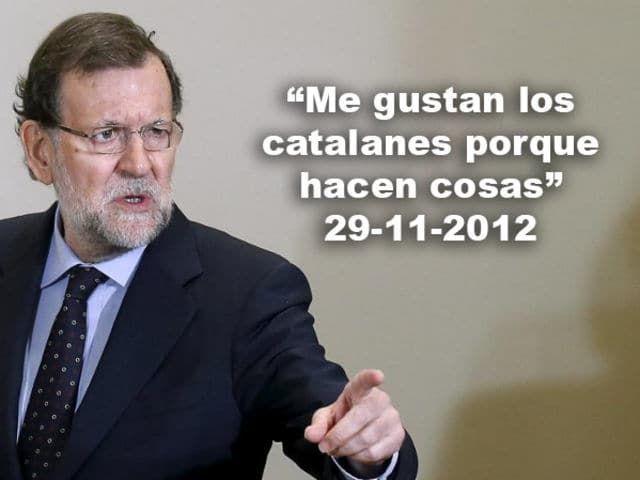 """""""J'aime les catalans parce qu'ils font des choses"""" #rajoy #CatalanReferendum #democracy #catalexitpic.twitter.com/AwVcXDoiay"""