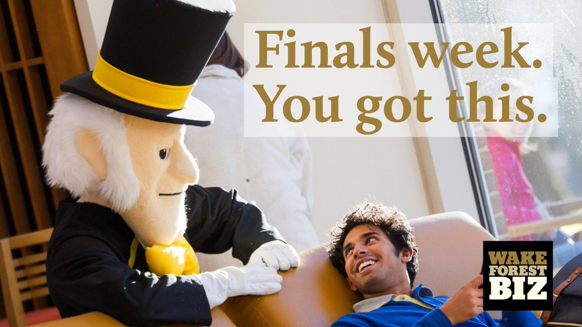 We've got your back, #bizdeacs. Good luck with finals week. #wfu #wakeforest