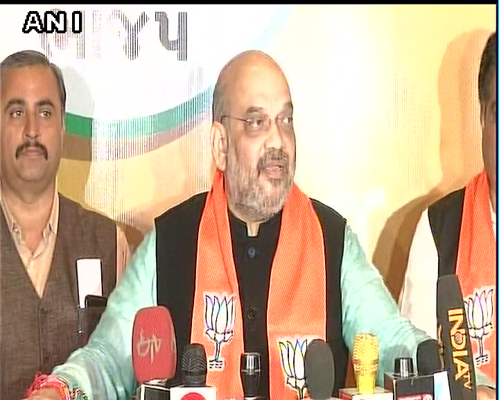 Since admn asked to not conduct road show of PM Modi on 12th he'll go to Ambaji Mata temple tomorrow. It'll be done uniquely. To promote Gujarat tourism, he'll take off in a sea plane from Sabarmati river front, land in Dharoi dam's pond & will go to temple by road: Amit Shah