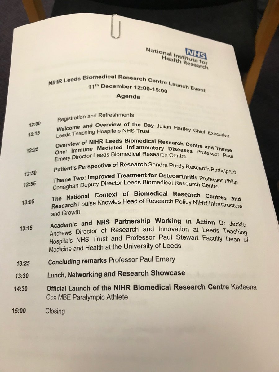 Delighted to be at the official launch @msdresearch 10 years of #ResearchExcellence @LTHTrust @UniversityLeeds @OfficialNIHR<br>http://pic.twitter.com/f8fhiKNjqD