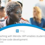 The benefits of introducing Mendix to the @WPI classroom: https://t.co/AY99NqxWh4 #MendixUniversity
