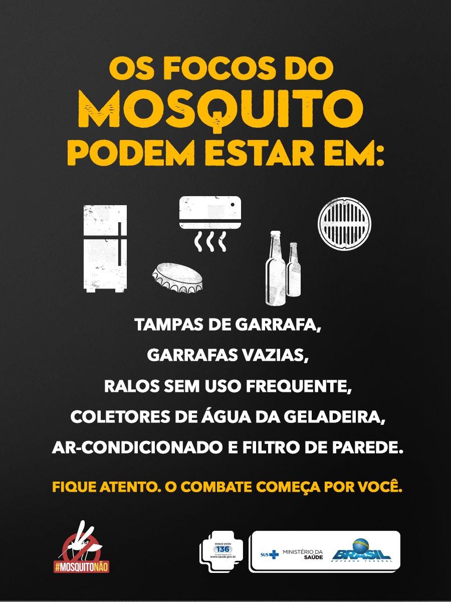 📢 Todo dia é dia de agir para acabar com o foco do mosquito Aedes Aegypti. Confira mais dicas aqui: https://t.co/gPJOsVlKBg   @minsaude   #MosquitoNão