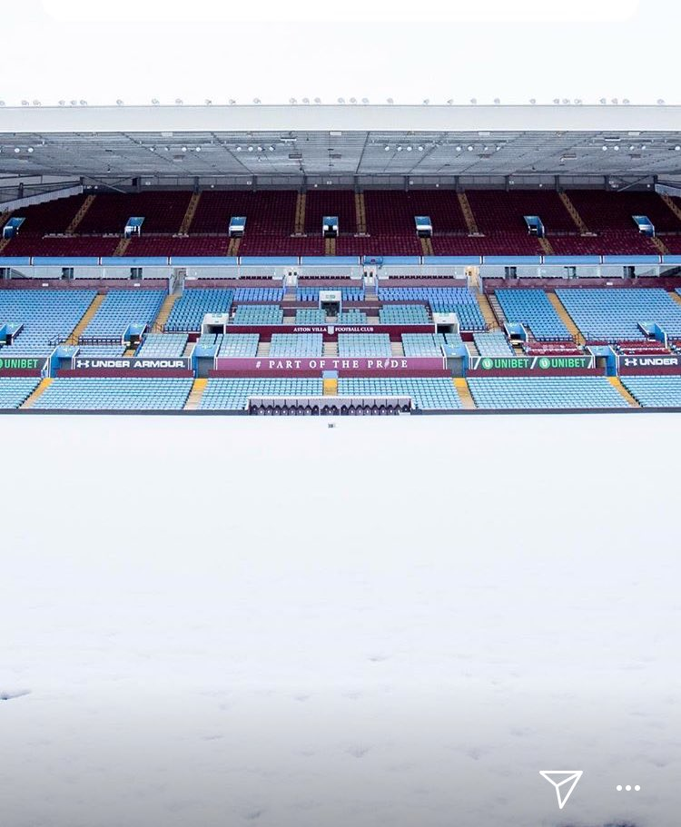 Villa Park with a covering of snow  #avfc <br>http://pic.twitter.com/MykLB10ySN