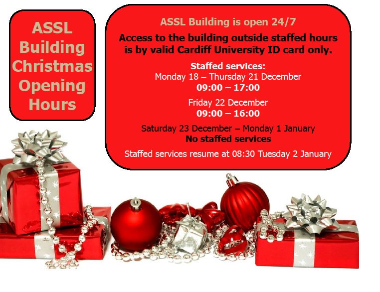 it will be open for all students 24 hours a day all holiday details below cardiffuni assl cardiffstudentspictwittercomr0wdqa0bn5 - 7 11 Christmas Hours
