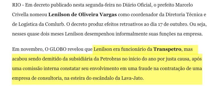 Depois de fazer campanha com a promessa de limpar o Rio, Crivella continua a nomear pessoas envolvidas em fraudes e outras violações de leis https://t.co/MkxVs5HvRY