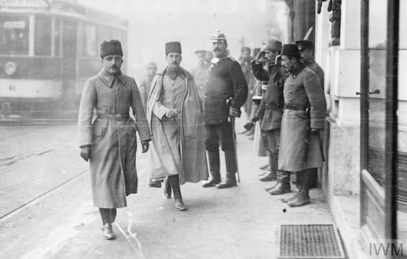 December 1917 - Enver Pasha, the Turkish Commander-in-Chief, in Bucharest for armistice negotiations with Romania #100yearsago