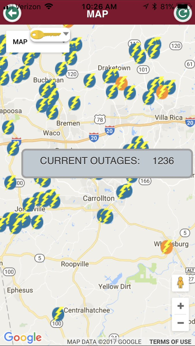 Carroll Emc On Twitter Outage Numbers Are Steadily Slowly