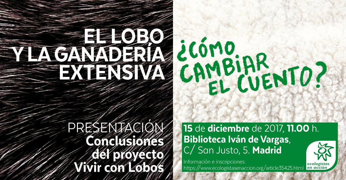 El lobo y la ganadería extensiva ¿cómo cambiar el cuento? @ Madrid | Madrid | Comunidad de Madrid | España