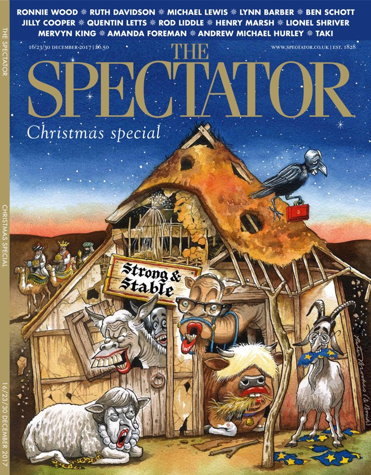 ⭐  The Spectator's Christmas issue. Featuring Ronnie Wood, Ruth Davidson, Michael Lewis, Jilly Cooper, Mervyn King, plus many others. ⭐