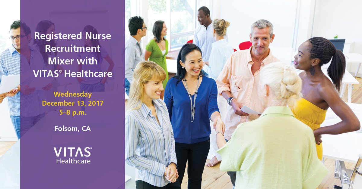 Meet some VITAS nurses and learn more about hospice nursing at our #RN recruitment &amp; networking mixer in #Folsom, CA - 12.13.17  http:// vitas.click/5w0cv  &nbsp;  <br>http://pic.twitter.com/iOwCA8Rshc