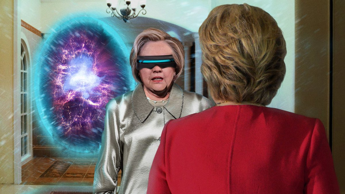Time-Traveling Hillary Clinton Warns Sel...