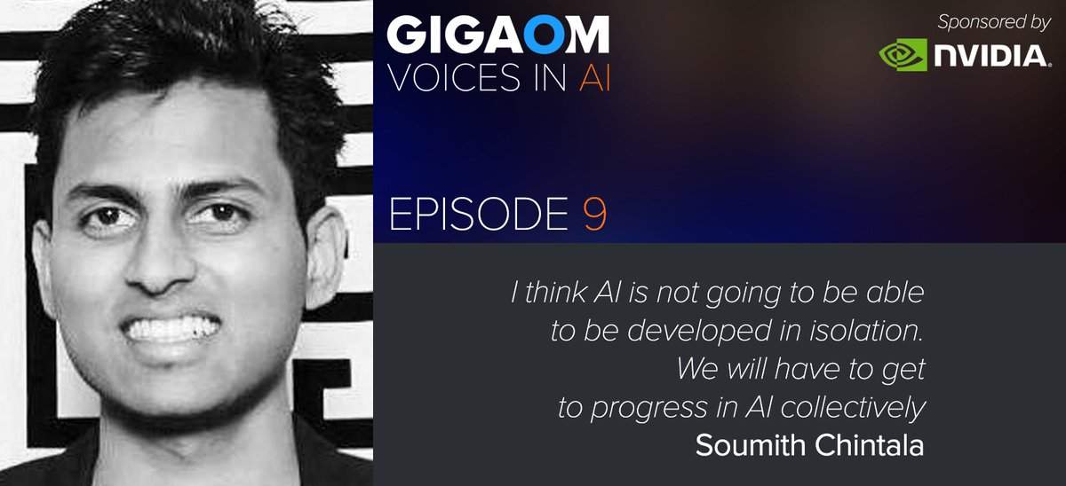 On Episode 9 of @VoicesinAI @soumithchintala of @facebook AI Research joins @byronreese on #transferlearning #neuralnetworks https://t.co/hyBUtPepSE presenter @nvidia