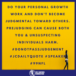 "Be careful to do your own personal development work before casting a ""growth stone"" at someone else.... #Leadership #99NFL #SpeakLifeUniversity #ISpeakLifeAcademy"