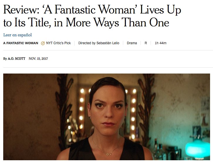 Cinemachile On Twitter New York Times The Title Of Sebastián