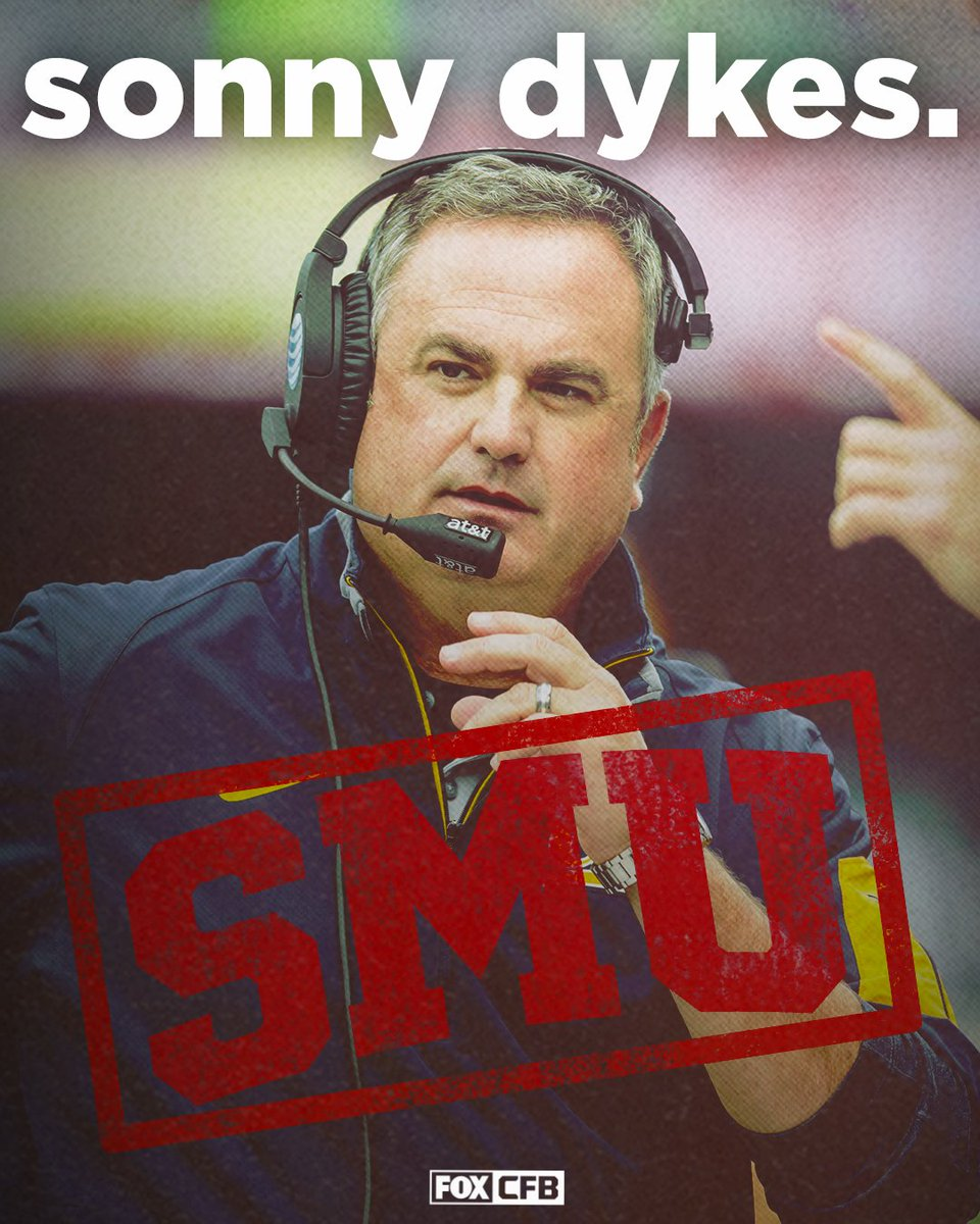 Sonny Dykes has agreed to become the next head coach of SMU (via @BruceFeldmanCFB)
