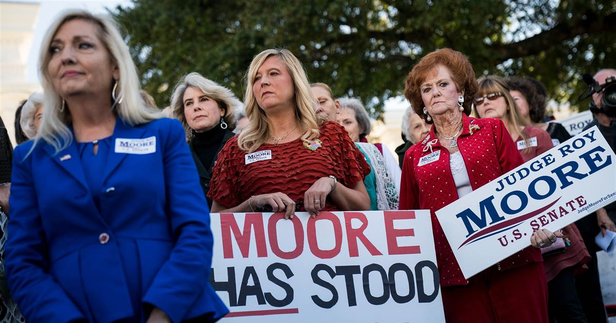 Opinion essay | Marcie Bianco: 'White female support of Moore eerily recalls the support white women showed Donald Trump.' https://t.co/I8jJdVHa3t via @NBCNewsTHINK