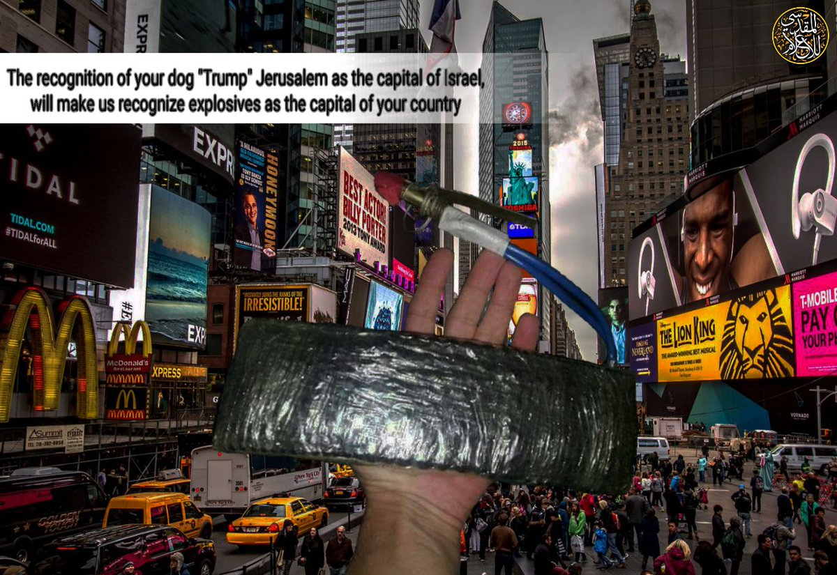 After the attack on Times Square today, this photo was published by a Telegram account often used to disseminate jihadist propaganda, according to director for The Center for the Analysis of Terrorism in Paris