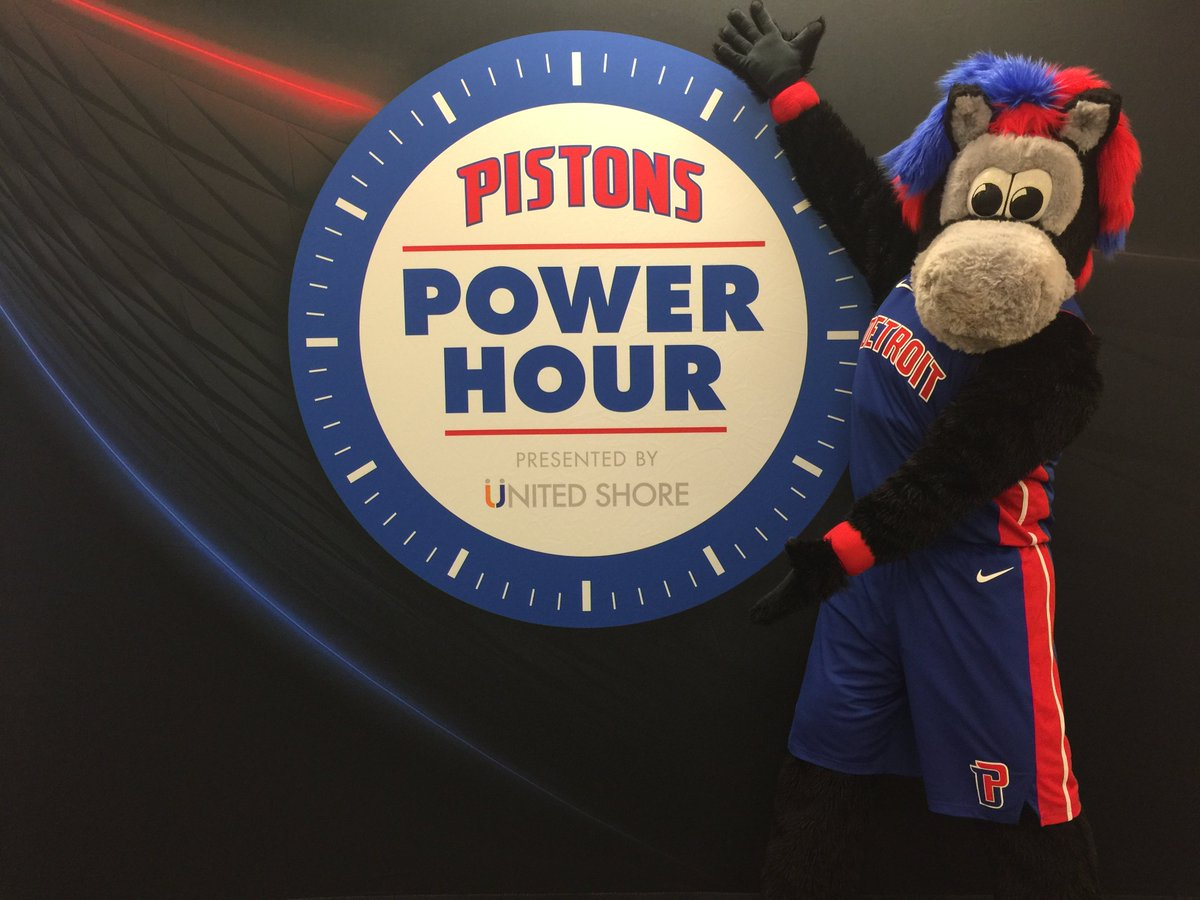 469fb7e5666  PistonsPowerHour presented by  UnitedShore starts at 5 30 tonight. Stop by  and look for our entertainment teams and sign up for our clubs!pic.twitter.com   ...