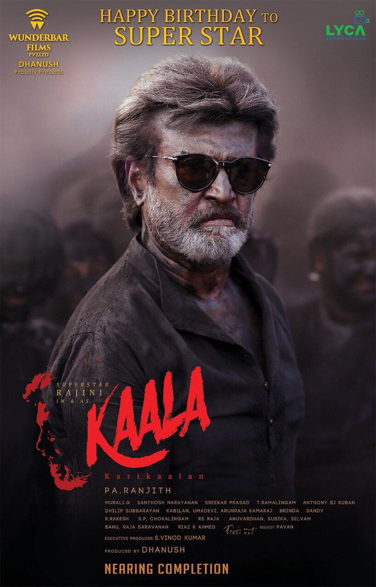Kaala Second Look Poster Released On Super Star Rajnikanth's Birthday 1