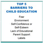 Do you know what the top 5 barriers to a child's education is? #education