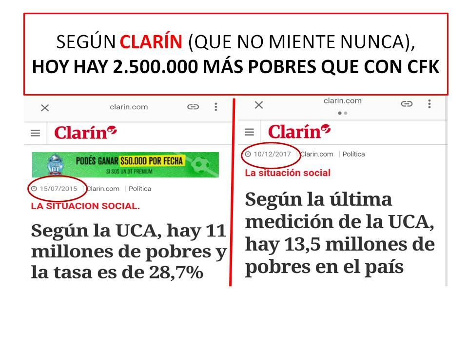 RT @pacoduranona: Saldrán los Macristas, Vidalistas, Cambiemos, a gritar 'Clarín miente'? https://t.co/uO1PjvbnZD