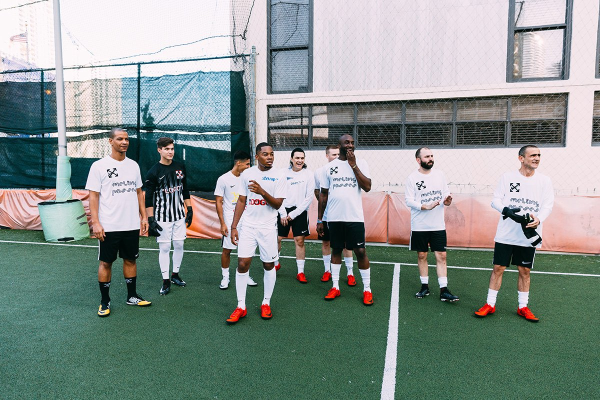 .@virgilabloh, @Skepta, and friends hit the soccer pitch at Art Basel Miami:   https://t.co/AoiYDHHUNn https://t.co/huPvsGZYGN