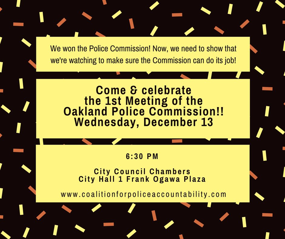 First Meeting of the Oakland Police Review Commission @ Oakland City Hall, Oscar Grant Plaza | Oakland | California | United States