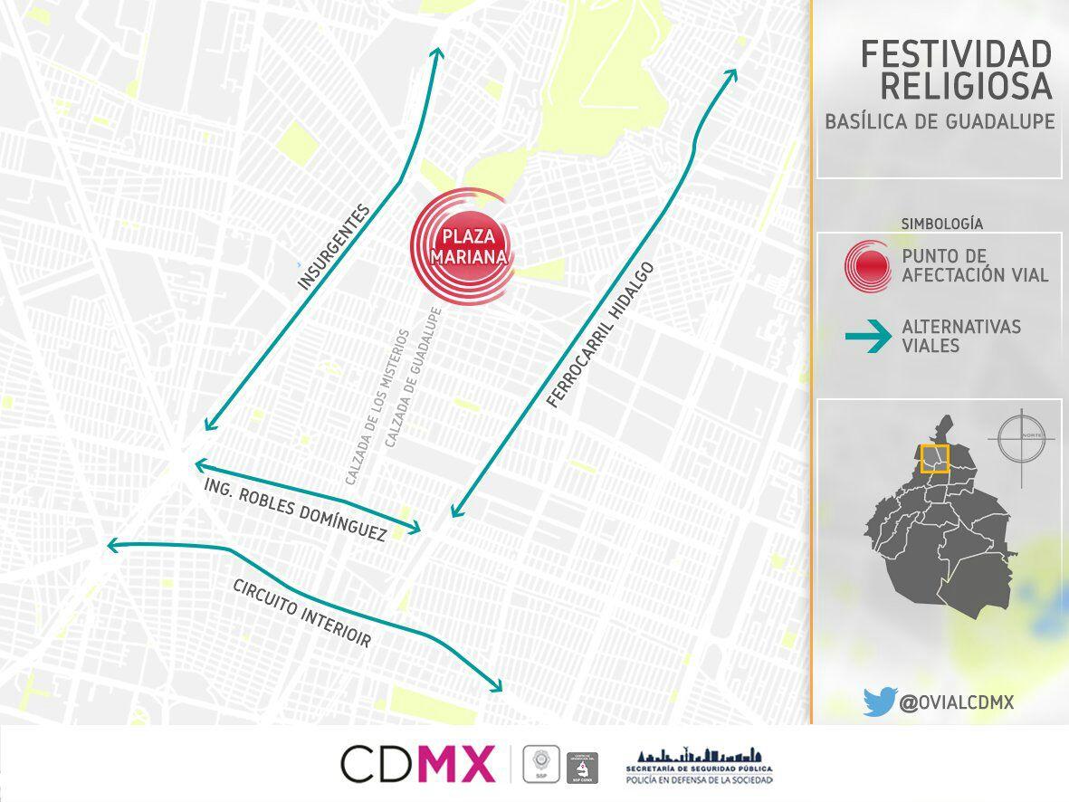 Circuito Y Misterios : Cierre de vialidades y transporte en cdmx eje central