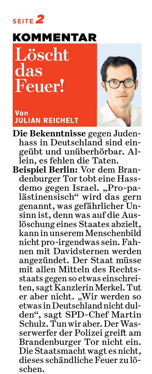 Gegen Antisemitismus in Deutschland wird sehr viel geredet und sehr wenig getan. Vorgeschmack auf meinen @BILD Kommentar von morgen.