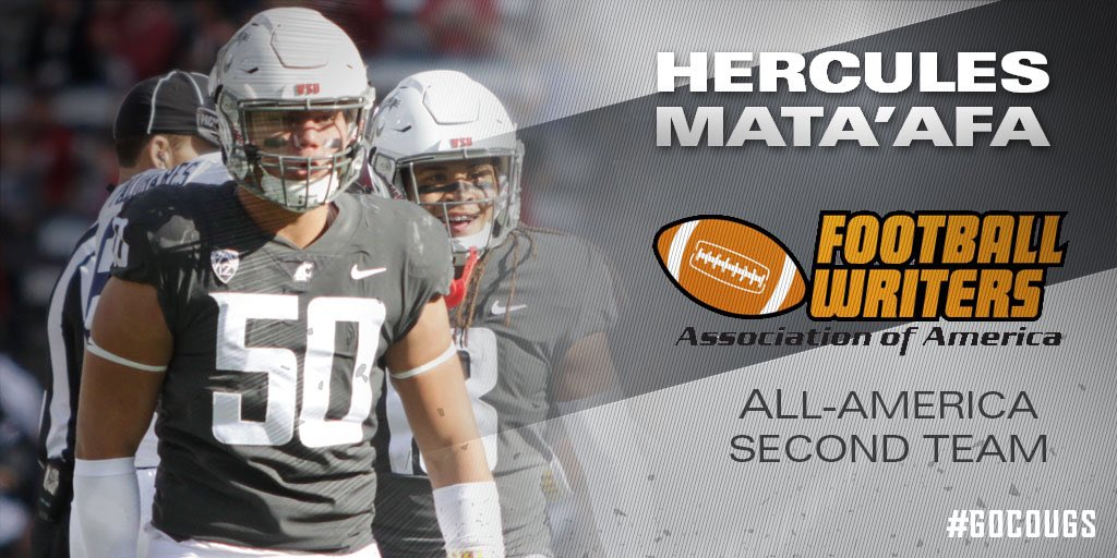 Another one! Hercules picks up his 3rd All-America honor! #GoCougs #SpeedD