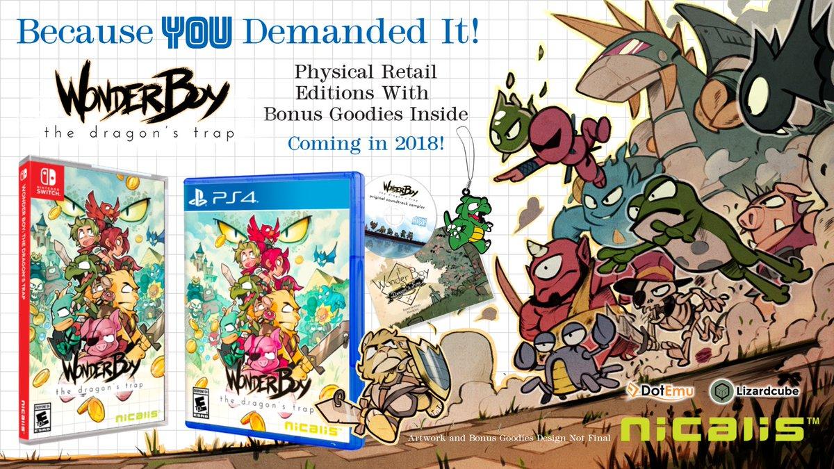[PRECO] Wonder Boy The Dragon's Trap Nintendo switch et ps4 DQyv-aXV4AAvSPJ