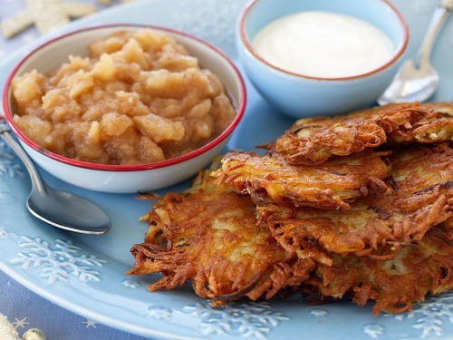 Yes, you can make latkes ahead of time: https://t.co/GRCTMcEaaJ