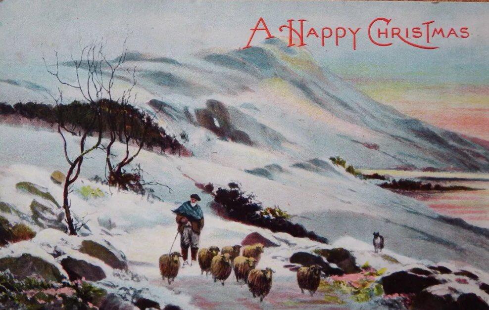 Tonight's vintage Christmas card. https:...