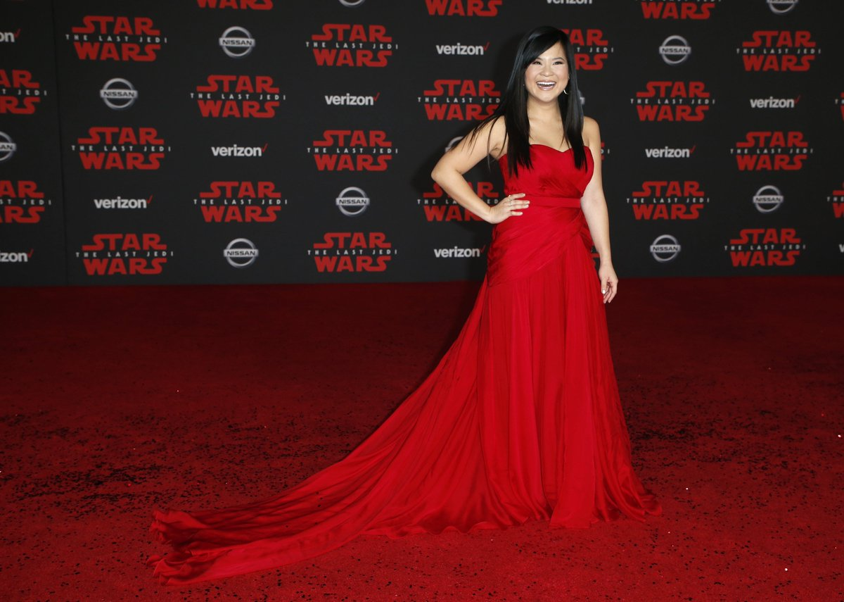 Actress Kelly Marie Tran is the first Asian-American woman to star in a Star Wars movie.